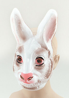 PLASTIC RABBIT #ANIMAL FACE MASK ANIMALS & NATURE FANCY DRESS