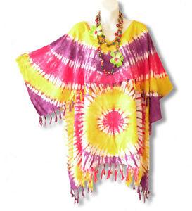 f917d0237e KB49 Tie Dye Batik Kimono Plus Size Caftan Kaftan Tunic Blouse Top ...