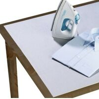 Wenko Tischbügeldecke Aluminium, 125x75 cm, Bügeldecke für Tisch, Bügelauflage