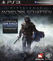 Mittelerde: Mordors Schatten (Sony PlayStation 3, 2014, DVD-Box) NEU OVP