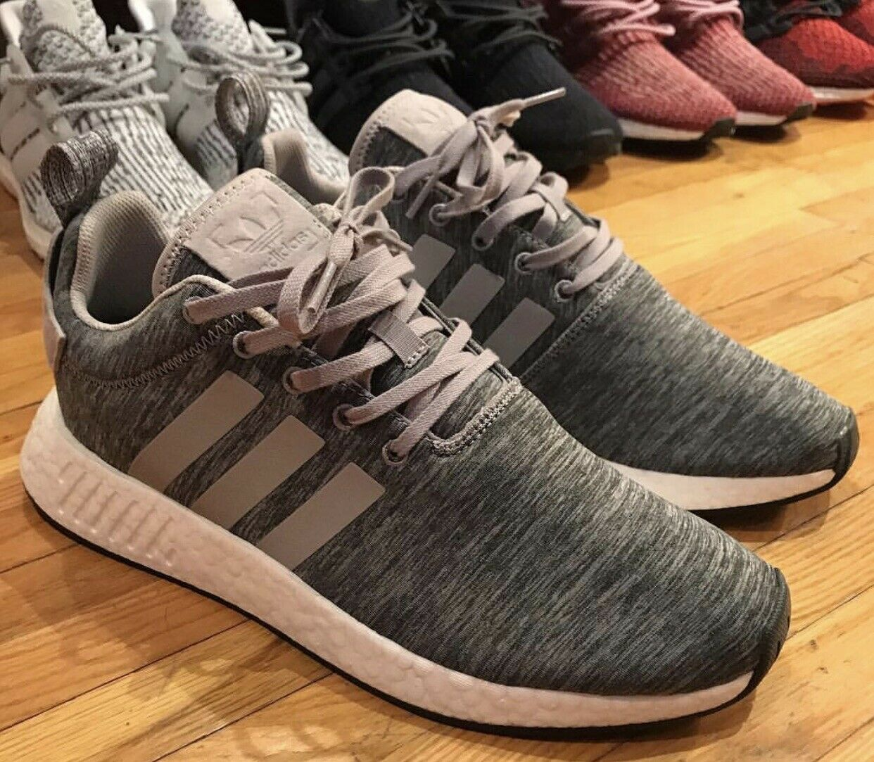 cheaper b1683 7bf48 Adidas NMD R2 SNS Grey Melange Size 10.5 Yeezy Yzy PK Sneakers N Stuff