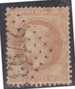 K130-31) 1863 France 10c Bistre Napoleon laurel wreath (AF