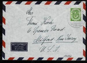 Bund BRD Posthorn MiNr 138 EF sur Lupo lettre dans les États-Unis-afficher le titre d`origine fX3tnnhv-07152234-955950971