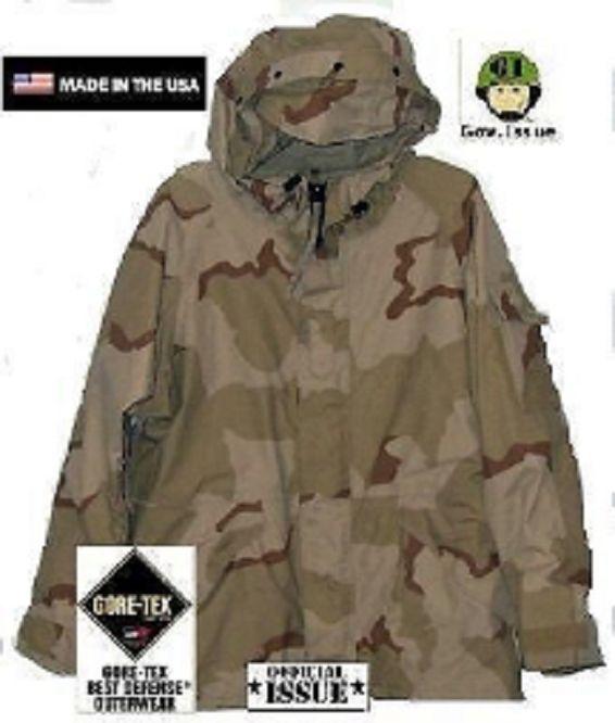 US colore ARMY 3 colore US deserto DCU Goretex ECWCS FrossoDO meteo Parka LARGO regolare 9d4ae7