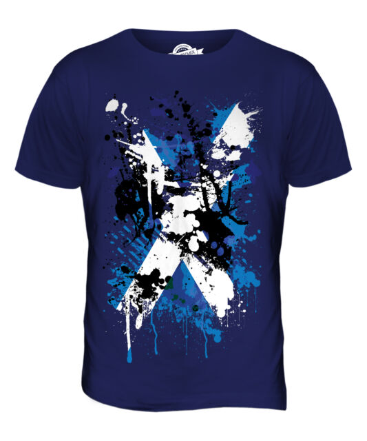 Scotland T Shirt Shabby Scottish Flag for Football Rugby T-Shirt St Andrews Day
