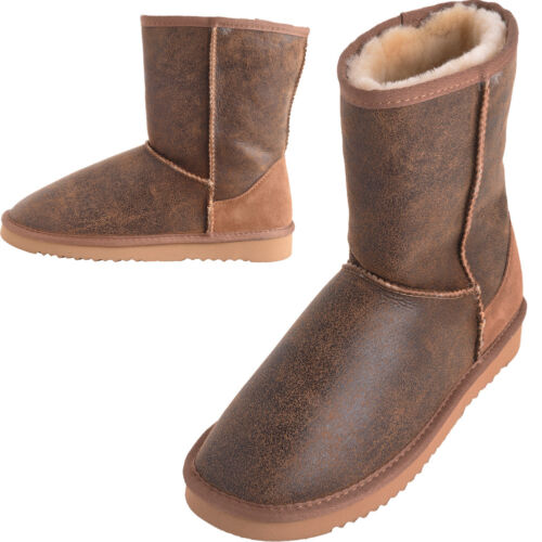 Lambland Mens Aviator Finished Genuine Sheepskin Boots with Reinforced Heel