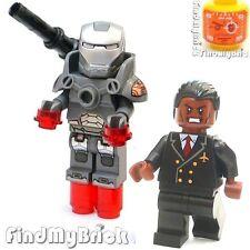 BM114AGRM Lego Iron Man War Machine Suit Rhodey Minifigure & Extra Upgraded EW