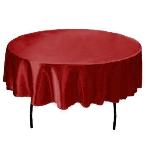 Ronde Satin Table Nappe Couvre Nappe Pour Maison Mariage Fête Christ 57 environ 144.78 cm