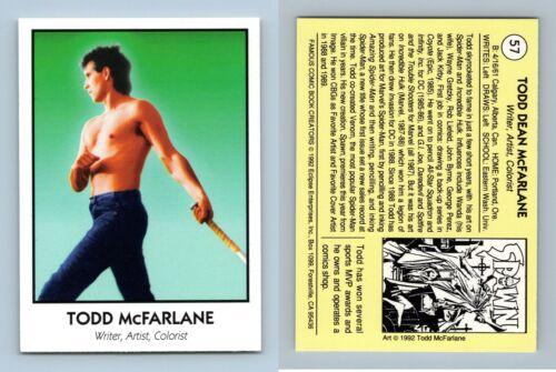 Todd McFarlane #57 Famous Comic Book Creators 1992 Eclipse Trading Card