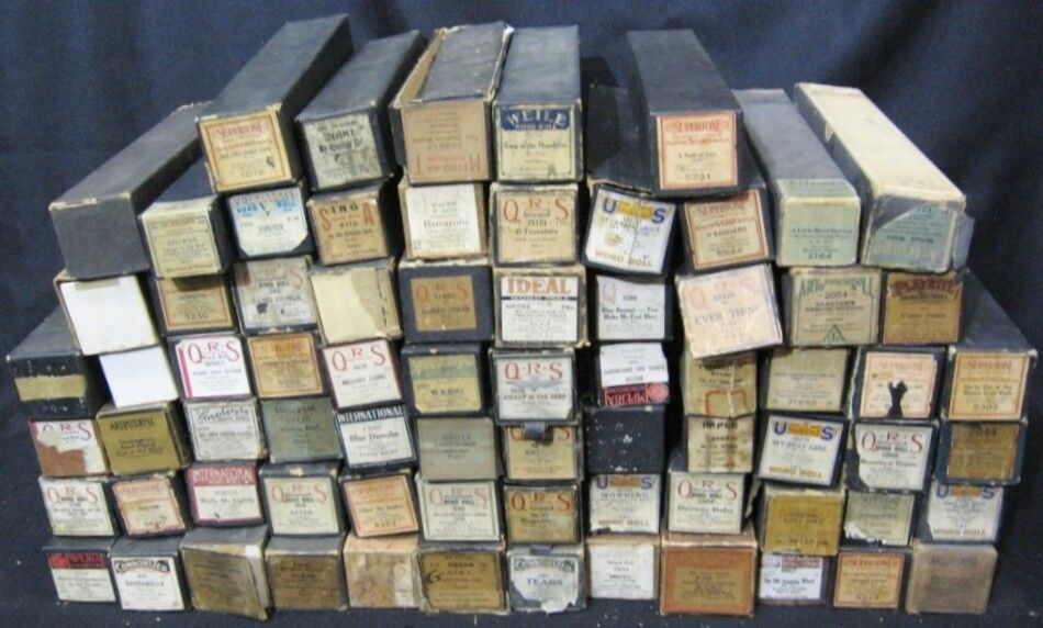 Lot of 72 Vintage Player Piano Rolls QRS, Vocalstyle, Cardanella, Sand Dunes Ect