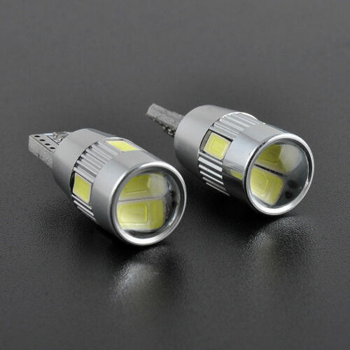2x T10 501 W5W CAR SIDE LIGHT BULBS ERROR FREE CANBUS 6SMD LED XENON HID WHITE