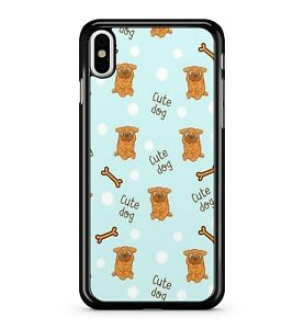 Details about Cuddly Puppy's Cute Dog Slogans White Polka Dots Pattern 2D  Phone Case Cover