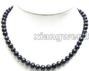 6-7mm-Black-Round-Natural-Freshwater-Pearl-Necklace-for-Women-17-034-Chokers-ne5567