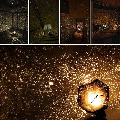 Home Decor Romantic Astro Star Sky Projection Cosmos Night Light Lamp SN