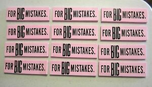 12 NEW BIG MISTAKE ERASER LARGE JUMBO REALLY BIG MISTAKES ERASERS SCHOOL OFFICE