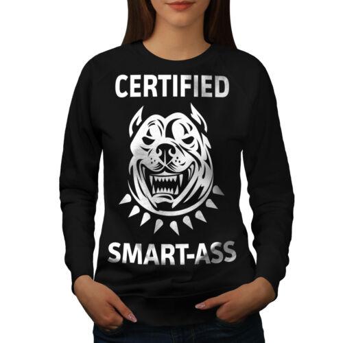 Wellcoda CHIANTE Bulldog Femme Sweat-shirt Pitbull Casual Pullover Pull