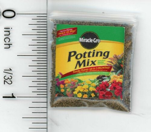 Dollhouse Miniature Bag of Potting Soil by Cindi/'s Mini/'s