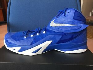 10adf39a1d8d Nike Zoom Lebron Soldier 8 VIII Royal Blue White 18 James Mens ...