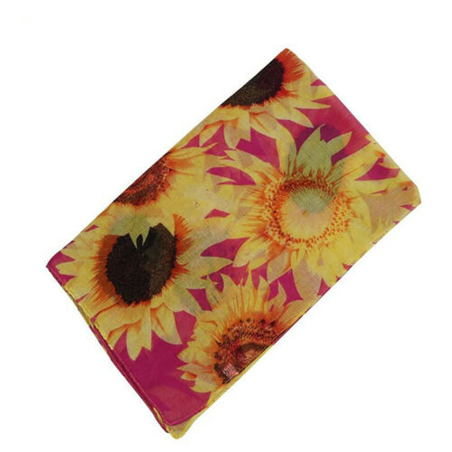 Skin-Friendly Sunflower Pattern Shawl Scarf Highly Cost Effective Woman Scarf
