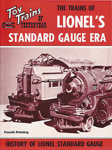 Toy-Trains-of-Yesteryear-LIONEL-039-s-STANDARD-GAUGE-ERA-NEW-BOOK