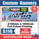 Custom Outdoor Vinyl Banner Sign - 2400mm x 1500mm - Australian Made