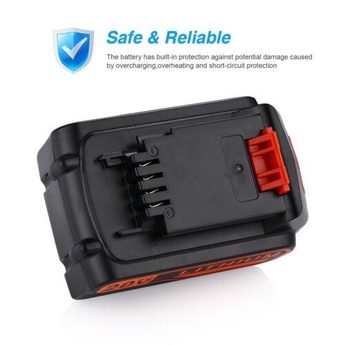 20VOLT For BLACK+DECKER LBXR20 LB20 Battery LB2X4020-OPE LDX220 Li-Ion MAX 4.0Ah