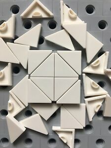 NEW LEGO Tiles White 2X2 Tiles Smooth Finishing Floor Lot of 50 Pieces