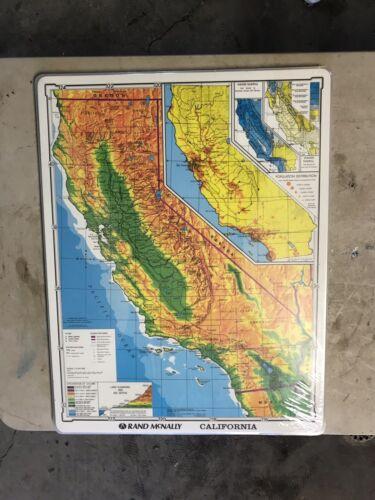 """NIB Lot Of 30 Rand McNally Laminated California Map 22"""" X 17"""" Markable"""