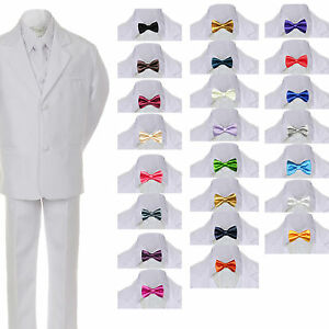 New Boy Toddler Kid Formal Wedding Tuxedo Suit Vest Clothing, Shoes & Accessories Free Lilac Tie 6PC 2T-4T Baby & Toddler Clothing