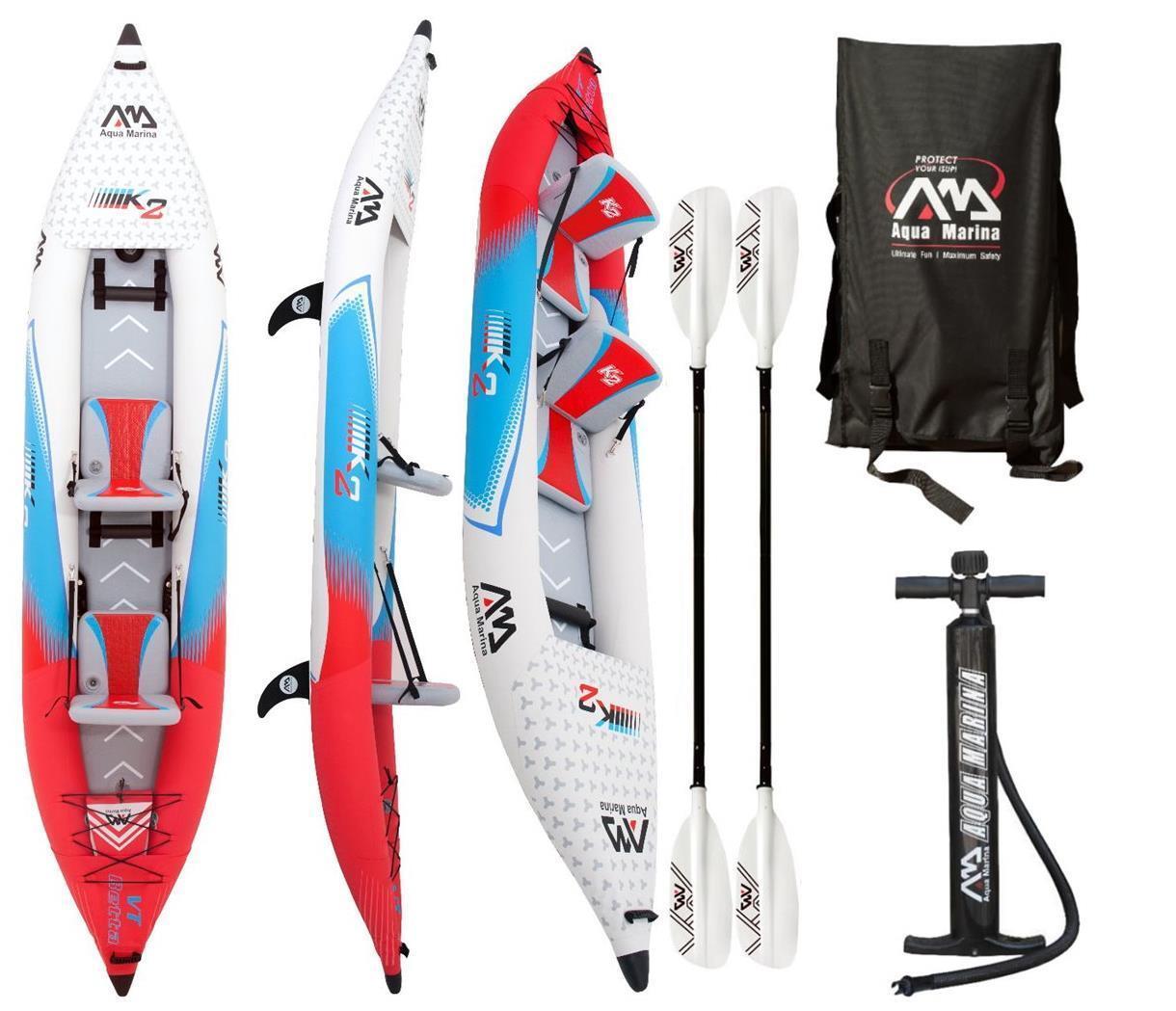 Aqua Marina Betta 13,6  Profesional Kajak 2 Personas Kayak Tours con 2 Remos