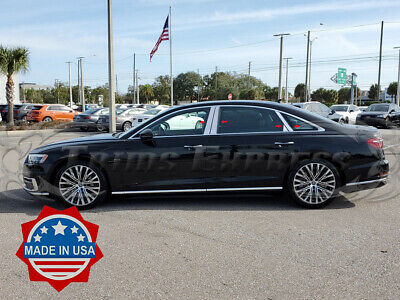 Compatible with 2012-2015 Audi A8 8PC Stainless Steel Chrome Pillar Post Trim Made in USA