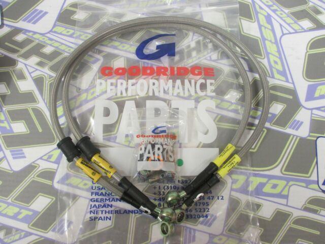 Honda CBR929 RRY-RR1 Fireblade Wezmoto Full Length Race Braided Brake Lines