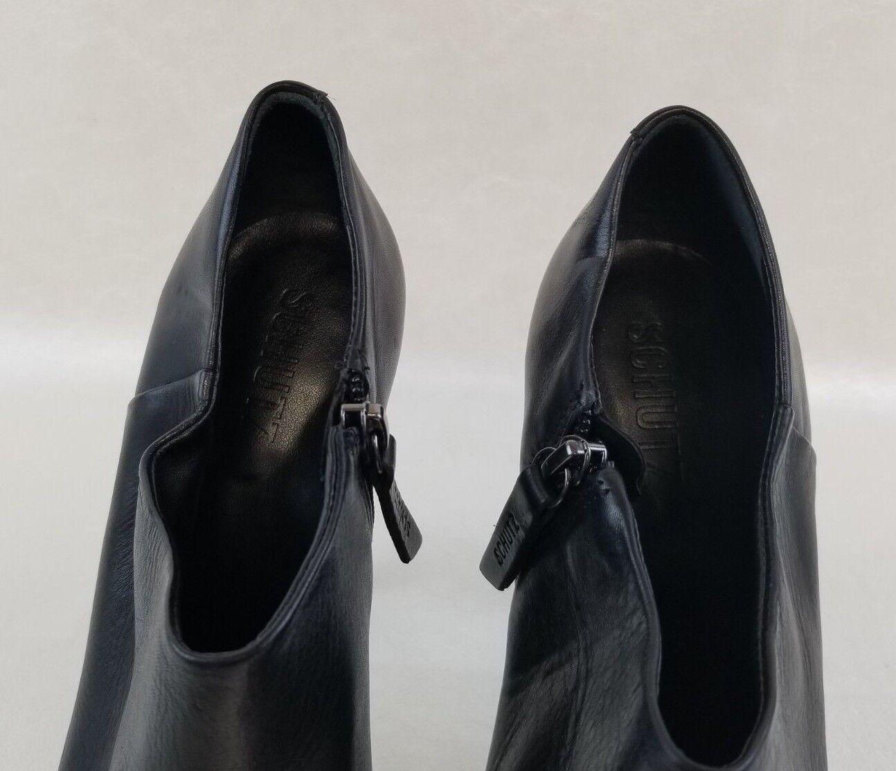 Schutz Platform Stiletto Booties Donna Zip Nero Nero Nero Pelle Shoes Sz EU 40   9.5 58aba8