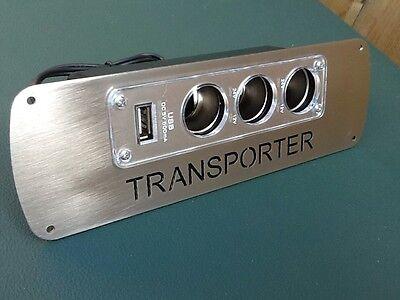 Vw T4 T25 T5 transporter camper Van 3 Way Usb Charging Unit