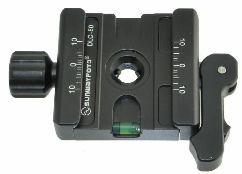 Sunwayfoto DLC-50 50 Mm Adaptador De Abrazadera de Palanca Duo-totalmente Arca Swiss Compatible