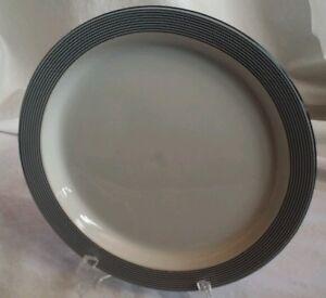 White Blue Stripe Dansk Bistro Dinnerware Ringsted 8.75\