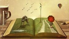 """perfact 36x24 oil painting handpainted on canvas """" a large magic book  NO459"""