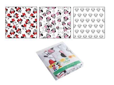 Disney 3 Langes Bébé En Mousseline De Coton Doux Pour Nouveaux-nés Mickey Mouse