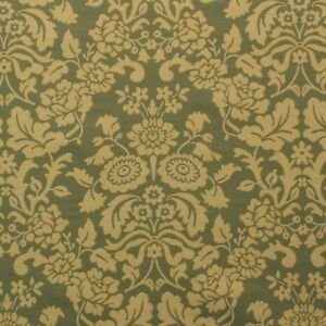 "58/"" Upholstery and  Drapery Color Sage By the Yard Jacquard Floral"