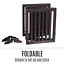 thumbnail 8 - Pet Gate Step Over Dog Gate Freestanding Assembly-Free Puppy Foldable Fence New