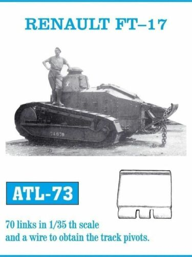 FRIULMODEL METAL TRACKS RENAULT FT-17 Scala 1//35 Cod.ATL-73