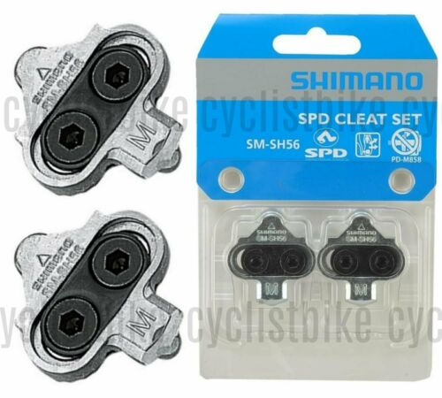 1 Pair Shimano SM-SH56 Cleat Set w//o Cleat Nut Multiple Release Mode