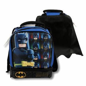 98e6cf0375d9 LEGO BATMAN Dual Compartment Insulated Lunch Bag w Detachable Cape ...