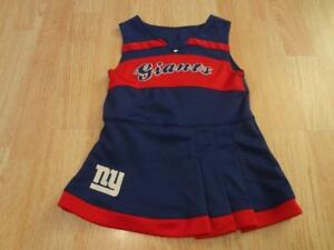 40b5e6c0a Toddler Girls New York Giants 2T Mo Cheerleader Cheer Outfit Dress ...