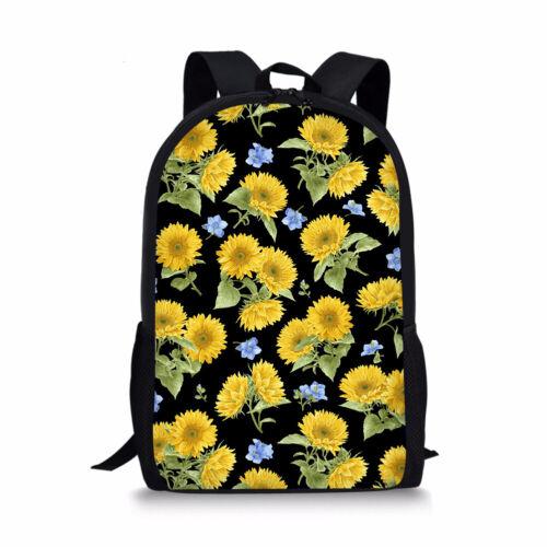 Sunflower Women Ladies Backpack Handbag Travel Anti theft Kids Laptop School Bag