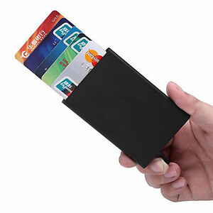 A-Metal-ID-Credit-Card-Holder-RFID-Protector-Aluminum-Wallet-Card-Case-New
