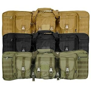 """Lancer Tactical CA-345 36"""" MOLLE Double Carbine Airsoft Rifle Storage Carry Case"""
