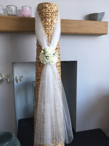 Pew Ends Aisle Decorations 10 X Rose And Gypsophila Wedding Decorations