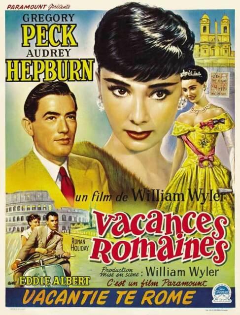 ROMAN HOLIDAY Movie POSTER 11x17 Polish Audrey Hepburn Gregory Peck Eddie Albert