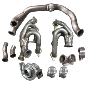 Details about T76 Turbo Manifold Downpipe Kit For 240SX S13 S14 LS1 LSx  Engine Swap